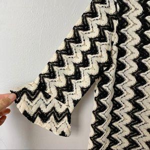Topshop black & white lace tunic